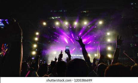 Rock music concert, Event in Mumbai,India