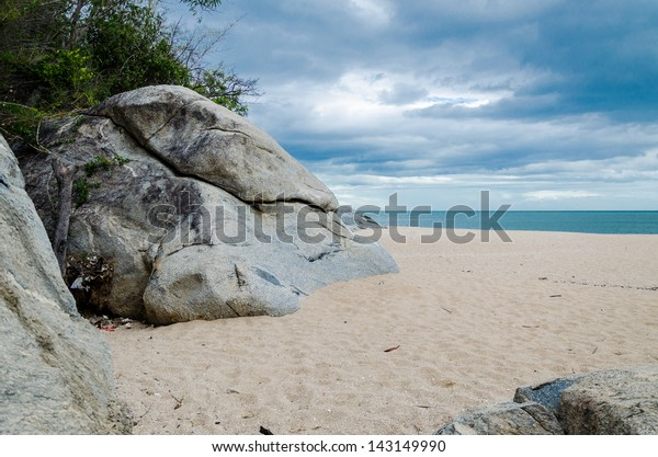 Rock on the beach so beautiful in Khao Tao