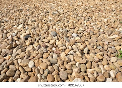 The rock on ground background