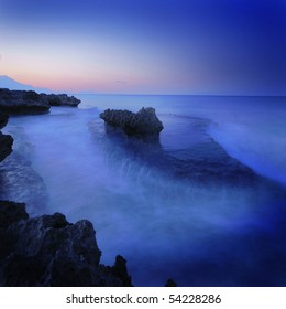 Rock on sea (Long Exposure)
