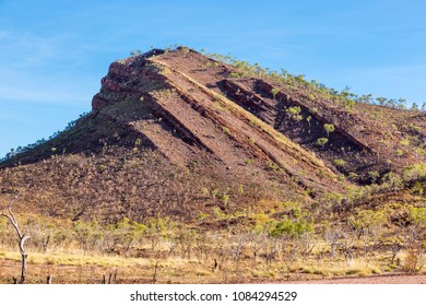 rock outcrop showing the forces of nature in Lake Argyle vicinity