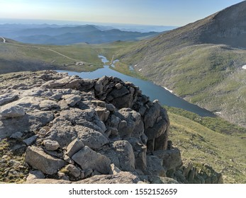 A rock outcropping above Summit Lake, Colorado