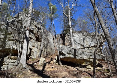 Rock outcroppings in Tishomingo State Park, Mississippi