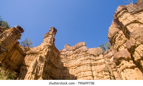 Rock outcrops Mae wang National park  in  Mae Wang Natioanl Park, Chiang Mai