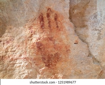Rock paintings of one of the largest archaeological sites in the Americas - UNESCO World Heritage Site. Serra da Capivara National Park - Piauí State - Brazil.