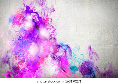 Rock passionate color background with splashes