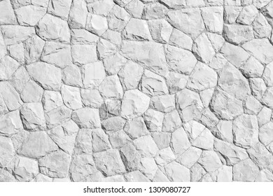 Rock pattern gray color and Mos plant of modern style design decorative uneven cracked real stone wall surface with cement japan style.