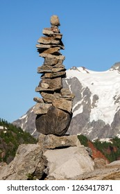 Rock Pile Art In Mountains
