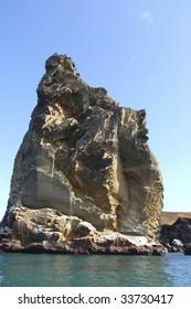 Rock pillar on the Galapagos Islands