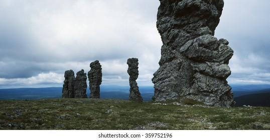 Rock pillars, Manpupuner, Komi Republic, Russia