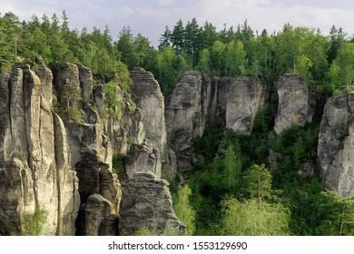 Rock pillars at Prachovske Skaly, Czech Republic