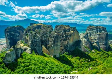Rock pinnacles of Meteora, Greece