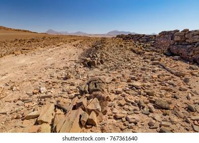 Rock Plateau at the Damaraland region in Namibia