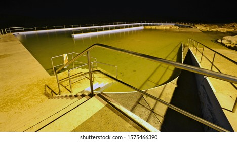 Rock pool at night, Curl Curl Sydney Northern Beaches