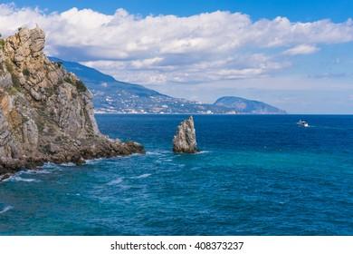 rock sail in Gaspra Yalta