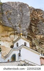 rock and Saint Uspensky Cave Monastery (Assumption Monastery of the Caves), Crimea