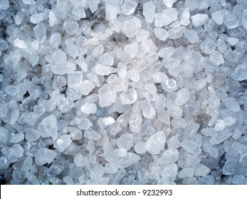 Rock salt typically used in winter
