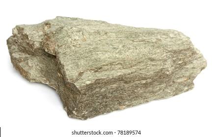 Rock sample of high grade regional metamorphic greenschist