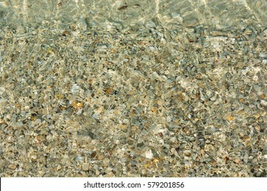 Rock and sand under water in sea