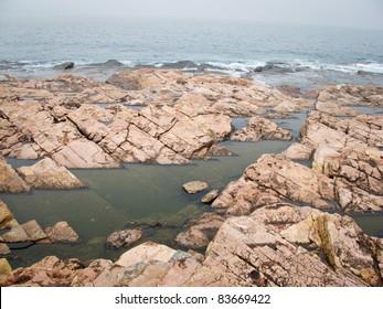 Rock and sea, at HK, China