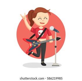 rock singer woman color
