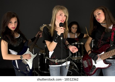 Rock Stars during a concert