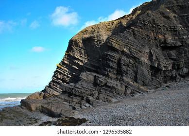 Rock stratum near Aberystwyth