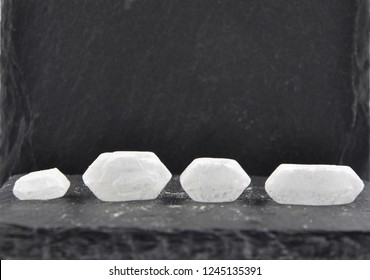 Rock sugar on slate