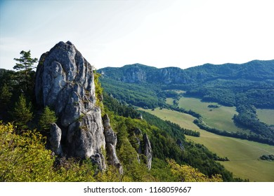 Rock at the Sulov area close to the Zilina, Slovakia