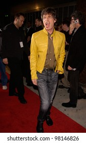 Rock superstar MICK JAGGER arriving at the El Rey Theatre in Los Angeles where he was performing to promote his new solo album Goddess in the Doorway. 15NOV2001.   Paul Smith/Featureflash