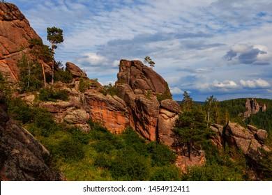 "rock ""Takmak"", solar grotto, Krasnoyarsk, reserve ""Stolby"""