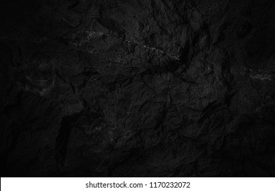 Rock texture. Dark black wall. Stone background
