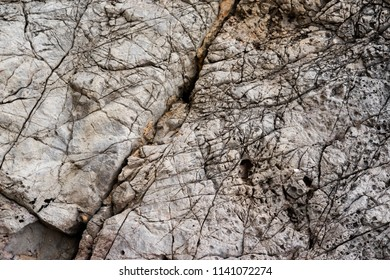 Rock textures. Structure of rockface.