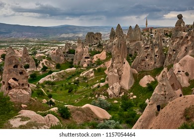 Rock town, Cappadocia, a historical land located in the north-east of Turkey.