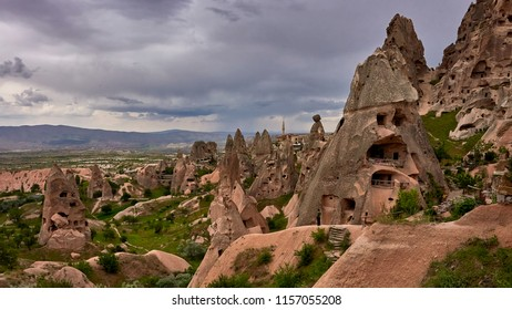 Rock town, Cappadocia, a historical land located in the north-east of Turkey-Panorama