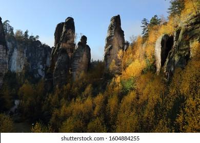 Rock town in Prachov rocks
