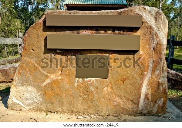 Rock visitor information sign