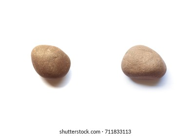 Rock vs. Rock on White Background