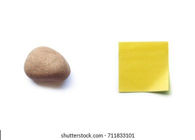 Rock vs. Paper on White Background