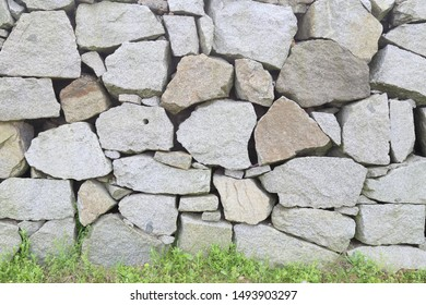 Rock wall background in outdoor