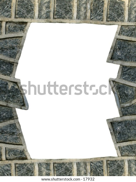 rock wall border or texture.