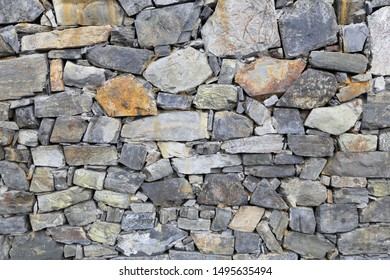 Rock wall building background outdoor