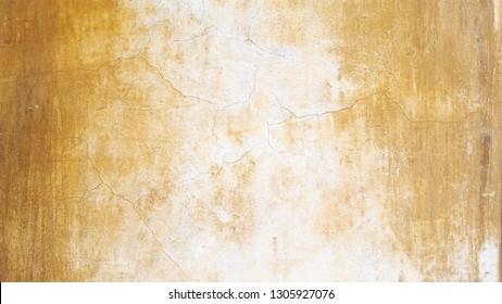 Rock Wall Texture. Ocher background. Crackle wall.