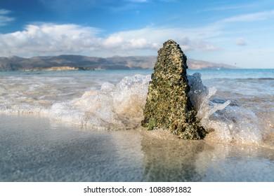 Rock wave ocean