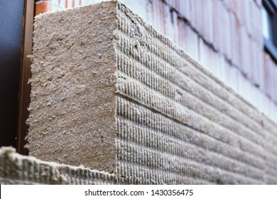 Rock wool insulation boards installed on the facade wall