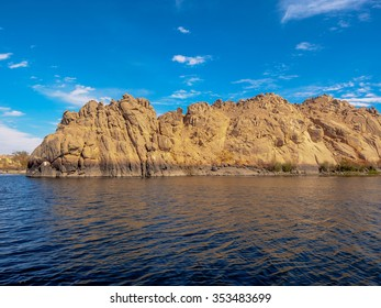 Rocked island in the lake