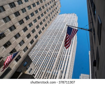 Rockefeller Center Building in New York, USA