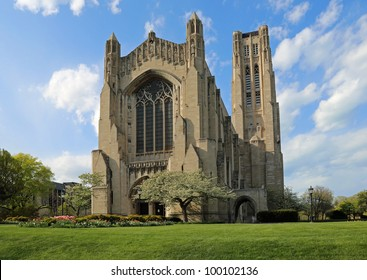 The Rockefeller Memorial Chapel on the campus of the University of Chicago
