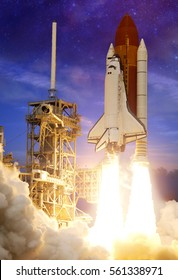 Rocket Launch - Elements of this Image Furnished by NASA