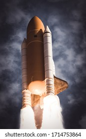 Rocket. Rocket tail. Rocket trace. The elements of this image furnished by NASA.